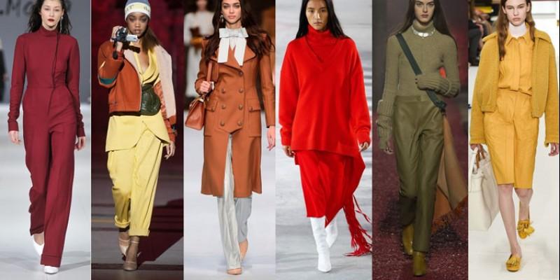 Модные цвета в одежде осень-зима 2019 года