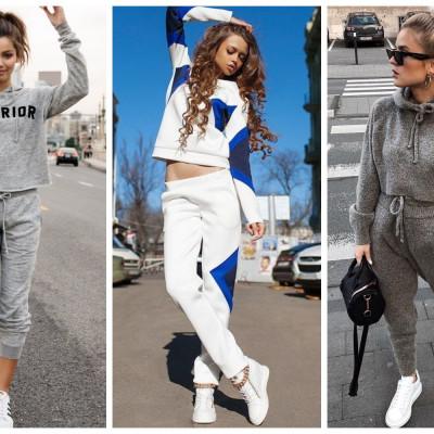 С какой женской одеждой можно сочетать белые кеды
