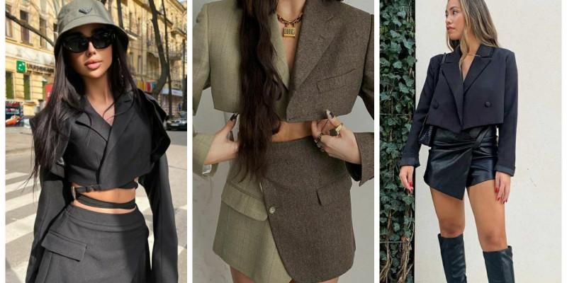 Укороченный пиджак – тренд сезона! С чем носить?