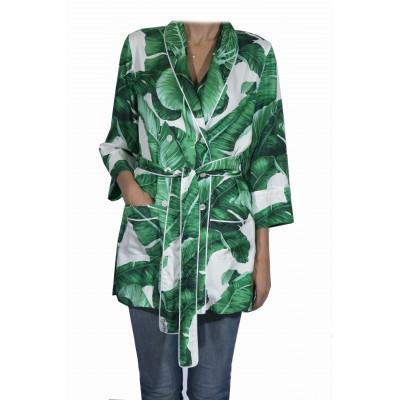 Пиджак в пижамном стиле