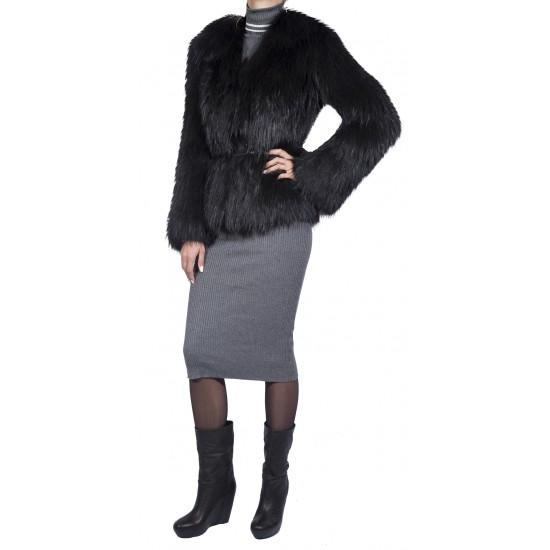 Меховая куртка из вязаной лисы Barbara bui