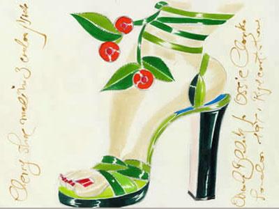 Туфли на каблуке Маноло Бланик