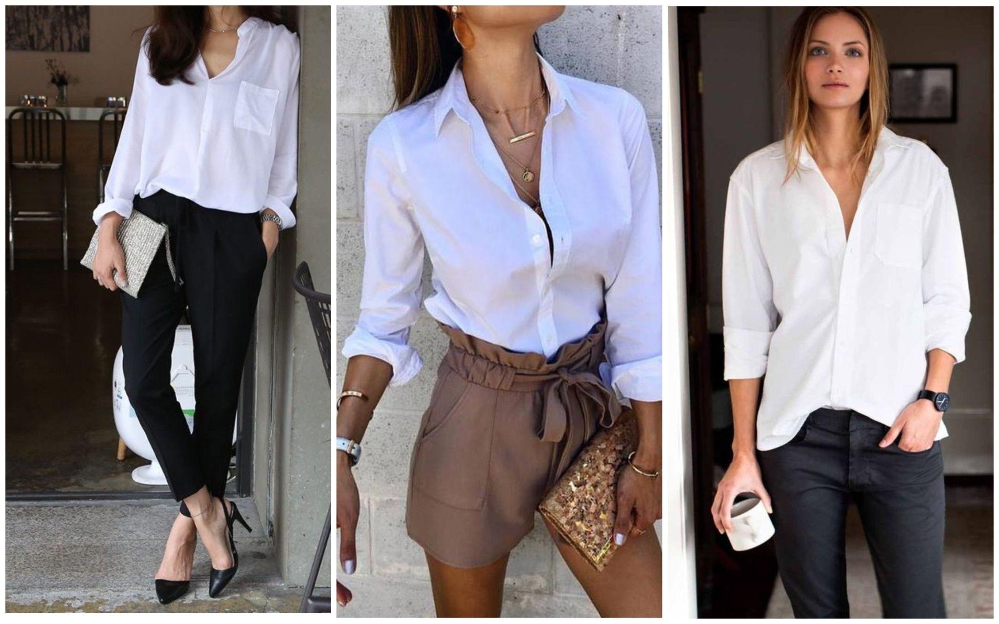 Белая рубашка женская