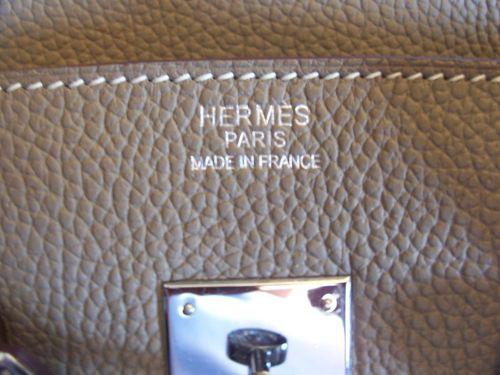 Наклонный шов на сумке Birkin Hermes