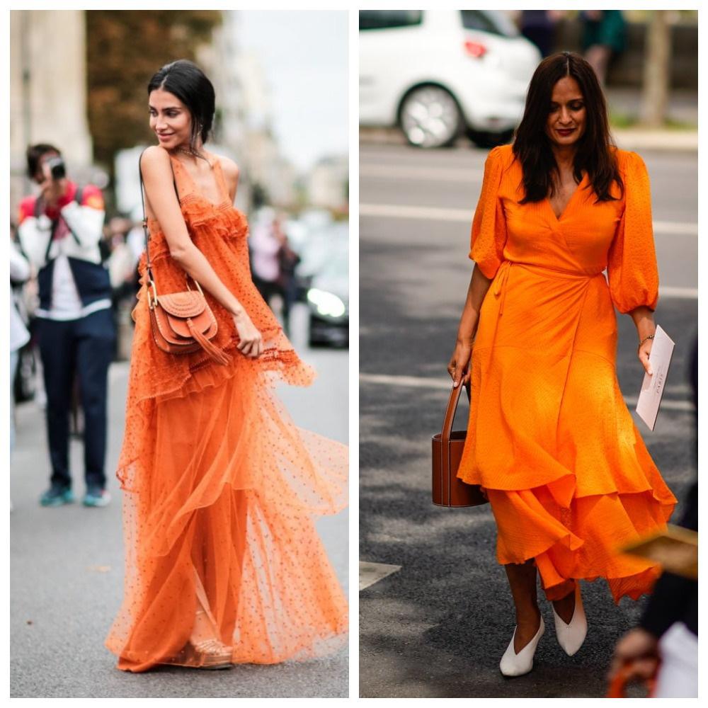 Апельсиновый цвет в одежде
