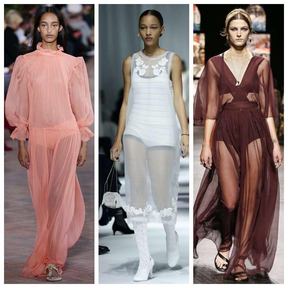 Прозрачные модели платьев