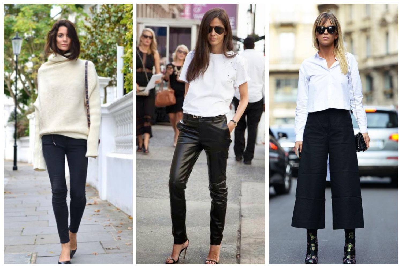 белый верх черный низ в повседневно одежде