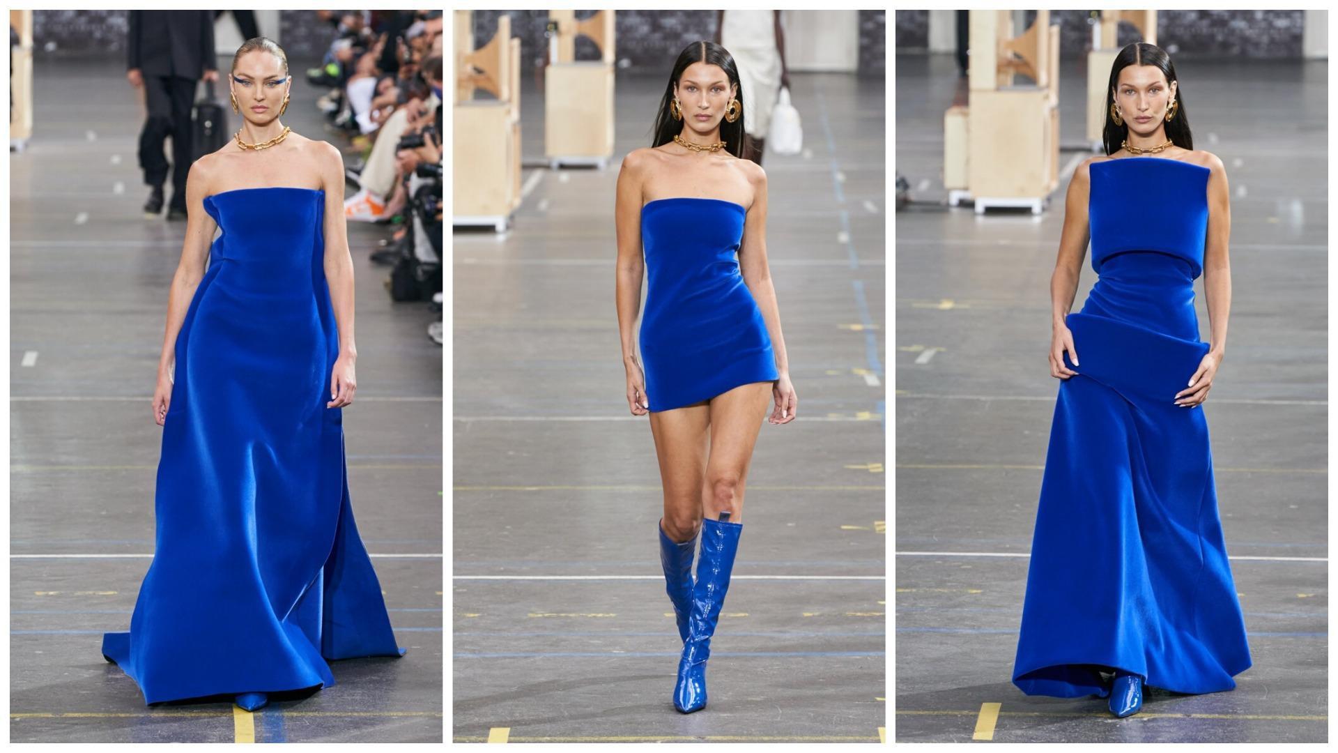Платья синих оттенков осень-зима 2021