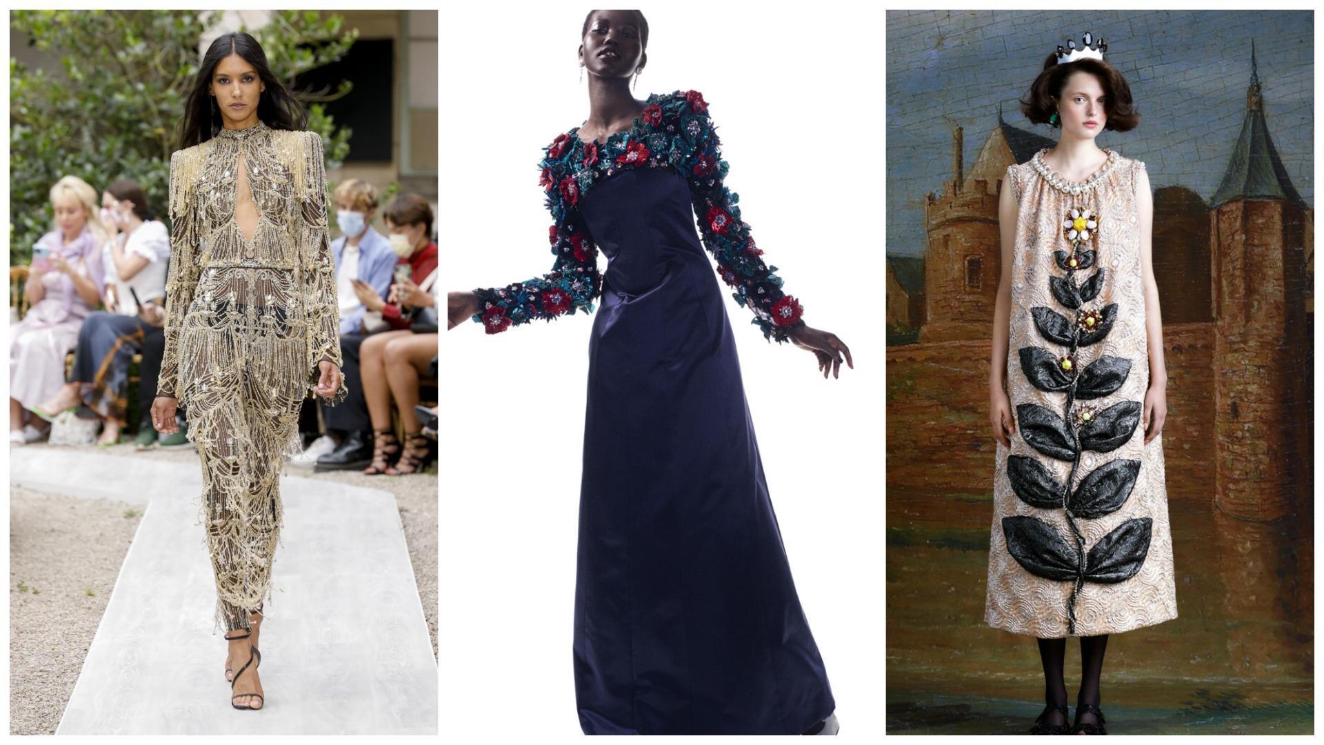 Платья с крупным декором