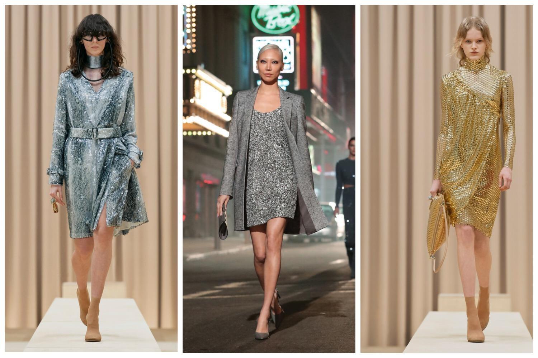 Трендовые платья с блеском