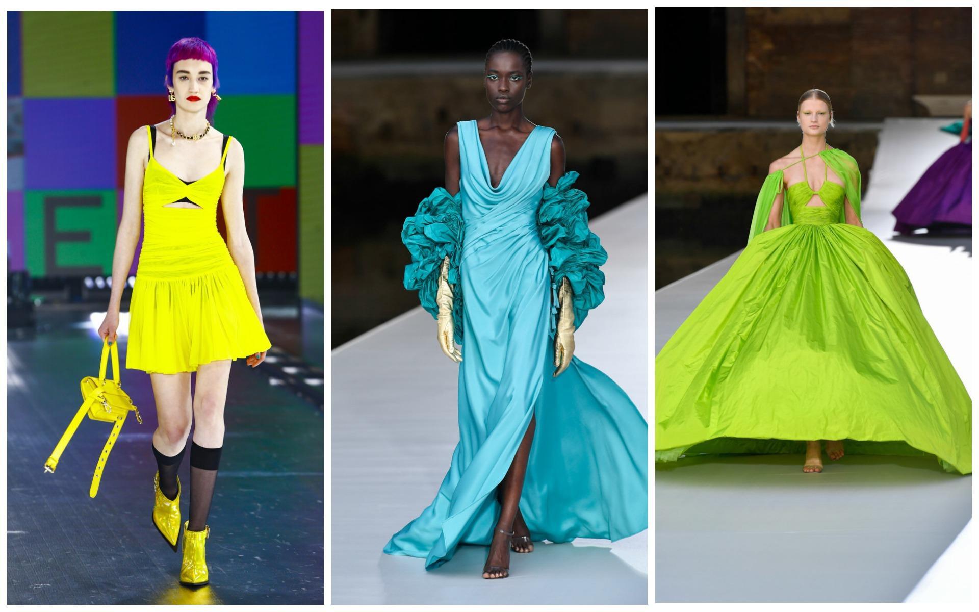 Яркие неоновые платья