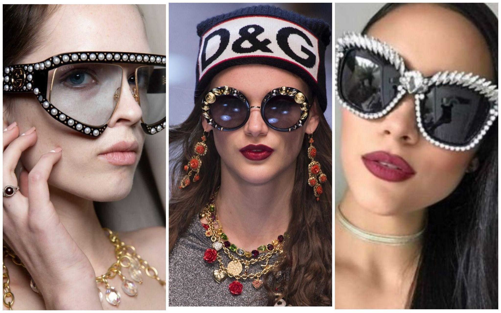 Солцезащитные очки с декором
