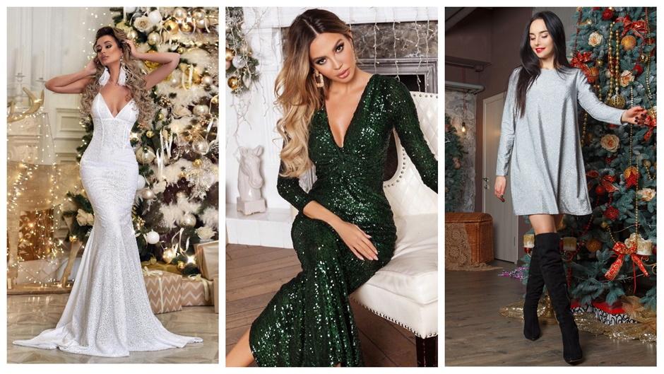 Новогодние платья 2021 из переливающейся ткани