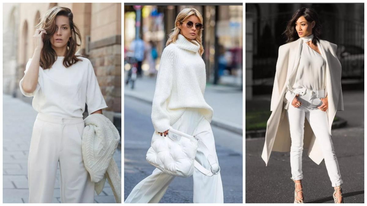 Монохромный стиль в белом цвете
