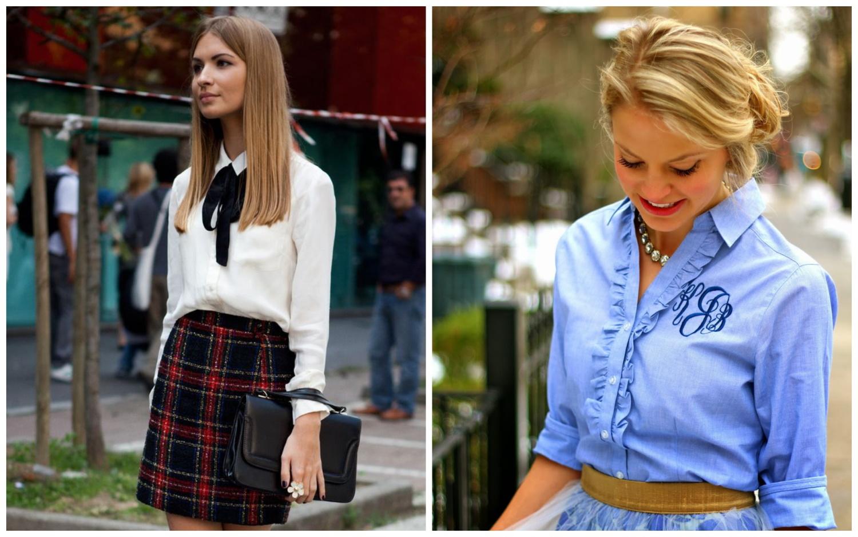 Классические рубашки и блузки с длинными рукавами