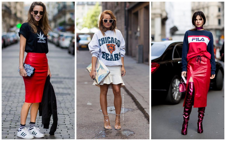 Спортивный свитшот и юбка